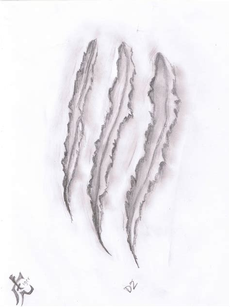 scratch mark tattoo designs wolf claw