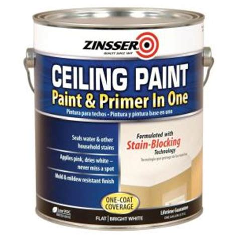 Primer As Ceiling Paint by Zinsser 1 Gal Ceiling Paint And Primer In One Of 2