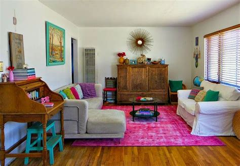 pink rugs for living room turquoise bohemian before and after living room reveal rugs usa winsdor overdyed grove pink