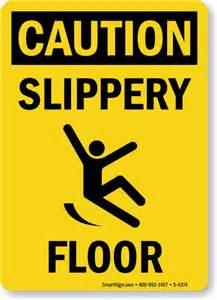 Handrail Safety Slippery Floor Signs Mysafetysign Com