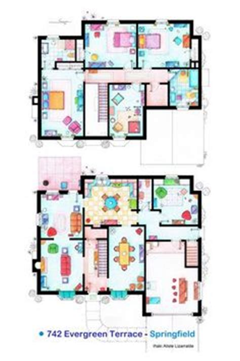 Famous Floorplans On Pinterest Floor Plans Apartment Simpsons House Minecraft Blueprints