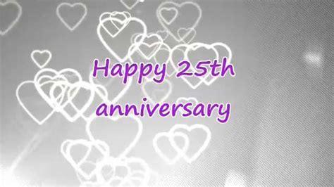 Happy 25th Wedding Anniversary. Free Milestones eCards