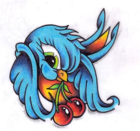 tattoo flash birds 37 best new school sparrow tattoo designs images on