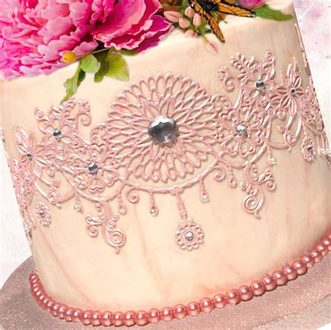 Pre Made Edible Cake Decorations by Cake Decorating Edible Lace Ready Made For Cake