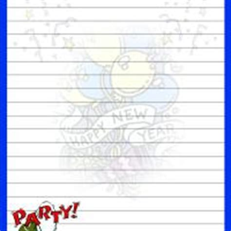 printable new year s writing paper new year with blue border writing paper