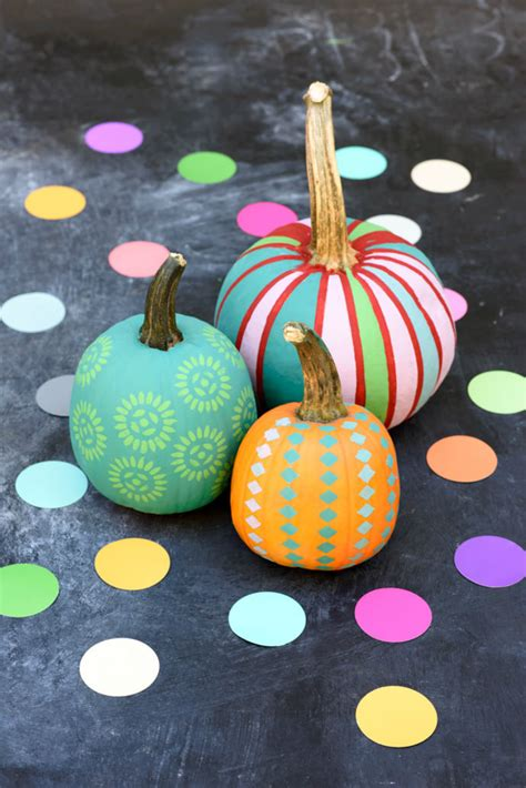 no carve pumpkin decorating ideas for thanksgiving and halloween