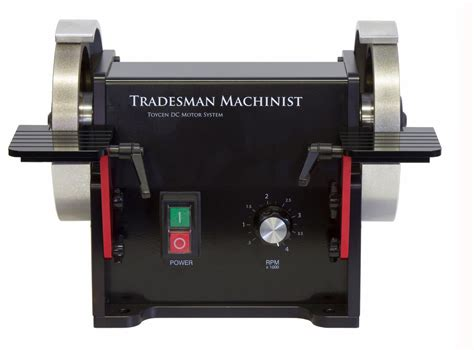 6 variable speed bench grinder tradesman 6 quot machinist dc variable speed bench grinder cuttermasters
