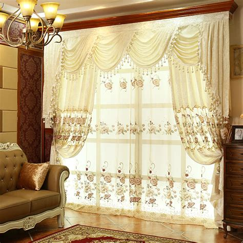 vintage drapes thick floral lace white suede polyester vintage curtains