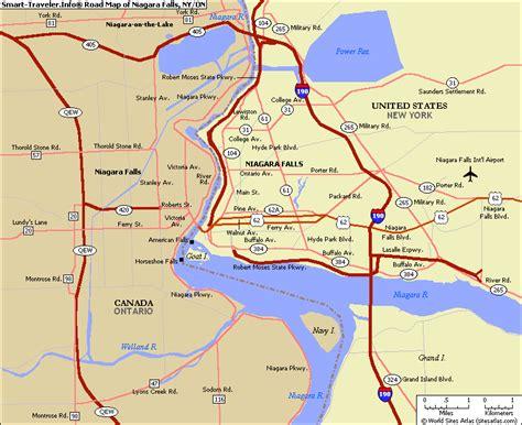 usa map niagara falls new york map niagara falls toursmaps