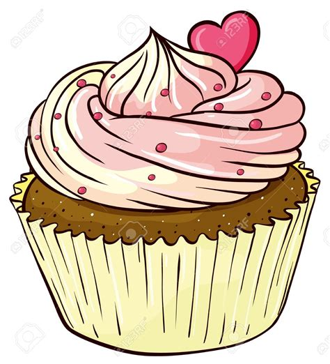 cupcake clipart illustration of an isolated cupcake stock vector cupcakes