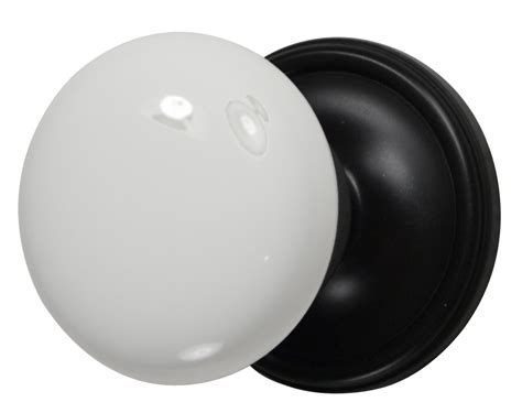 White Knob by White Porcelain Door Knob Rubbed Bronze Plate