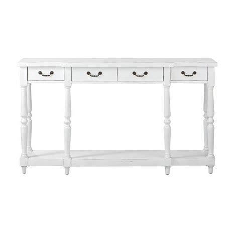 White Console Table With Storage by Home Decorators Collection Mitchell Rubbed White Storage