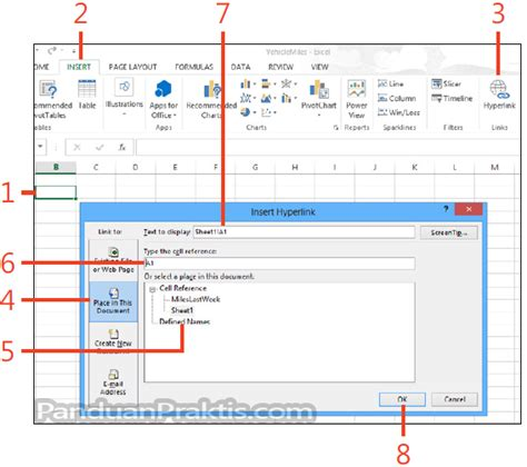 membuat hyperlink print di excel cara membuat hyperlink ke file di excel 2013