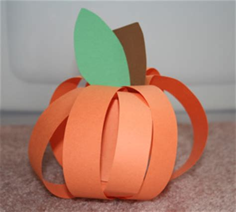 Construction Paper Pumpkin Crafts - kindergarten crafts รวมก จก