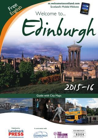 Welcome To Edinburgh I On Readers by Welcome To Edinburgh Guide 2015 16 By Landmark Press Issuu