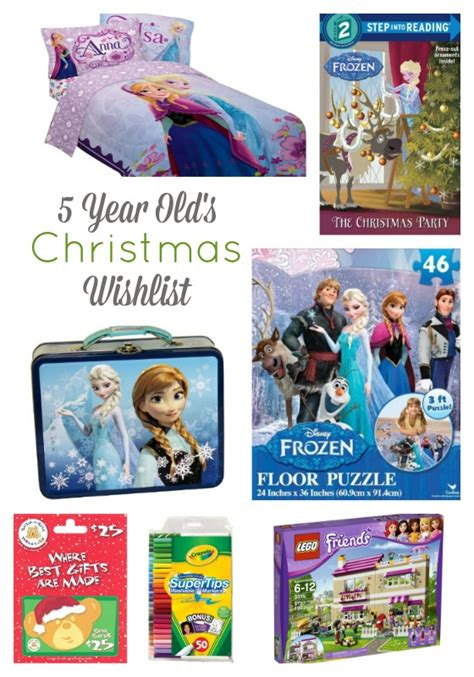 christmas wish list 5 year old girl