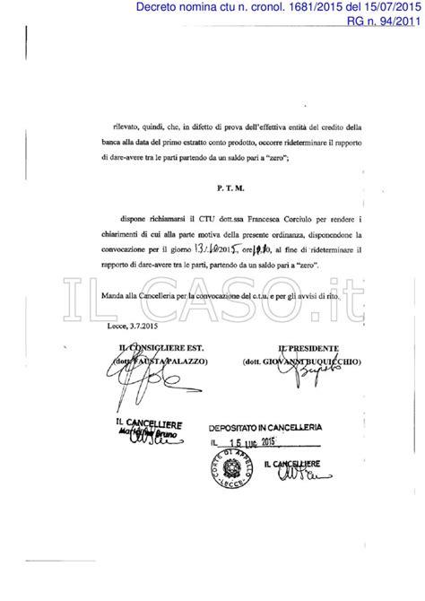 banche lecce nuova ordinanza tribunale di lecce per anatocismo