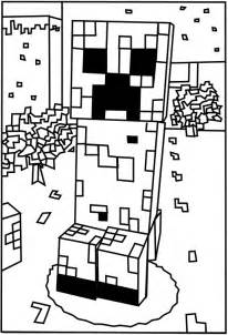 free coloring pages mob minecraft