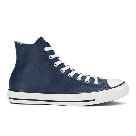 Jual Converse Chuck Leather converse s chuck all seasonal leather hi top trainers nightime navy black