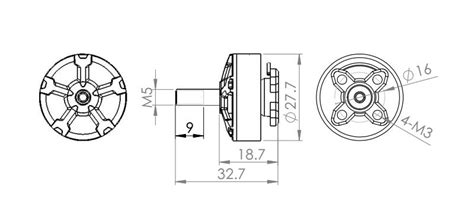 Dys Samguk Series Wu 2206 2700kv 3 4s Fpv Racing Brushless Motor dys samguk series wu 2206 2400kv 3 4s brushless motor