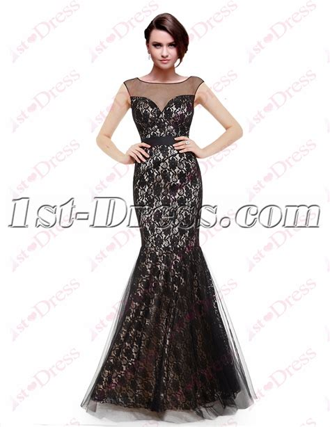 Lace Mermaid Evening Gown mermaid black lace formal evening gown 1st dress