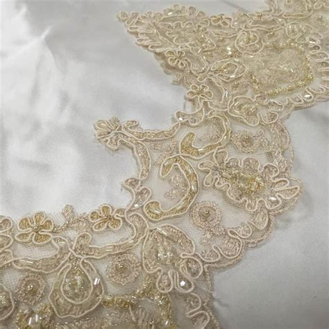 beaded trimmings uk beaded scallop lace edging