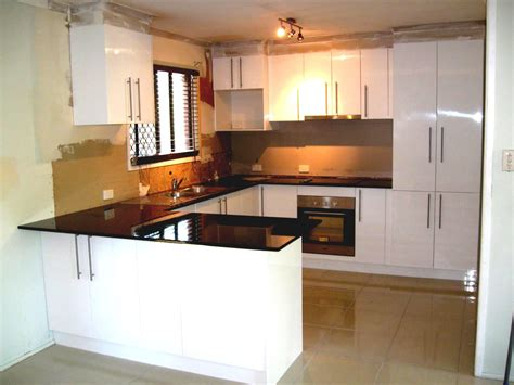 u shaped kitchens u shaped kitchen design with small tiles flooring and grey backsplash also brown granite