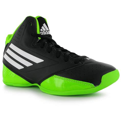 junior basketball shoes adidas 3 series junior basketball shoes black neon green