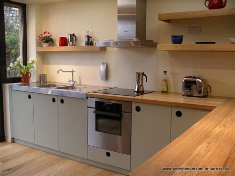 oak and french grey kitchen bespoke design by peter henderson furniture brighton uk