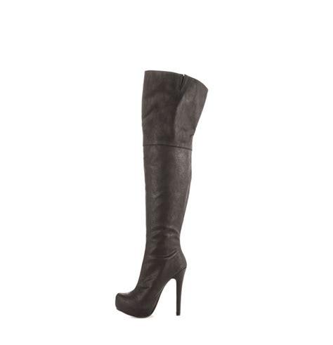 jushee 2015 winter factory price platform high heel black