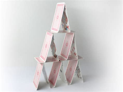 How To Make A Tower With One Of Paper - how to build a tower of cards 7 steps with pictures