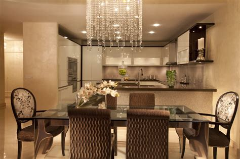 modern interior design at the jade contemporary dining room miami by dkor