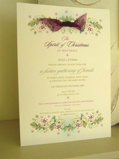 In The Spirit Of The Season Wedding Invitation Wording by Winter Wedding Invitations Paper Pleasures Wedding