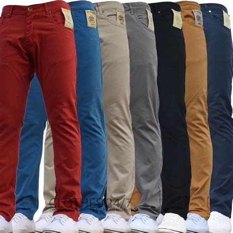 pant velve size l bnwt new mens enzo slim fit chinos