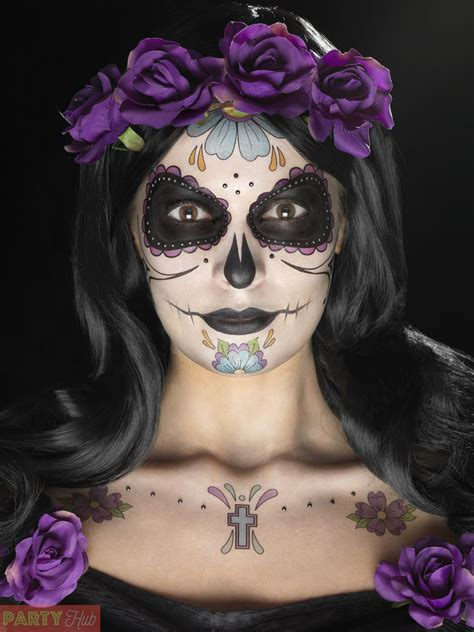 day of the dead day of the dead makeup purple www imgkid the image