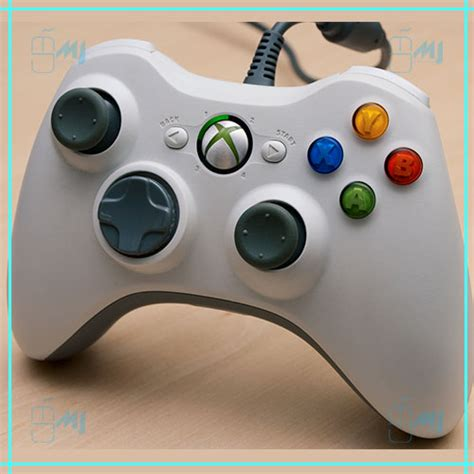 Stik Stick Xbox 360 Kabel Cable Wired Microsoft jual wired xbox 360 controller stik stick kabel xbox360 putih white mj hardware