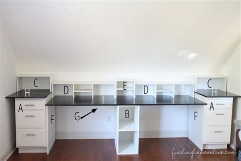 built in desk cabinets easy diy built in desk tutorial finding home farms