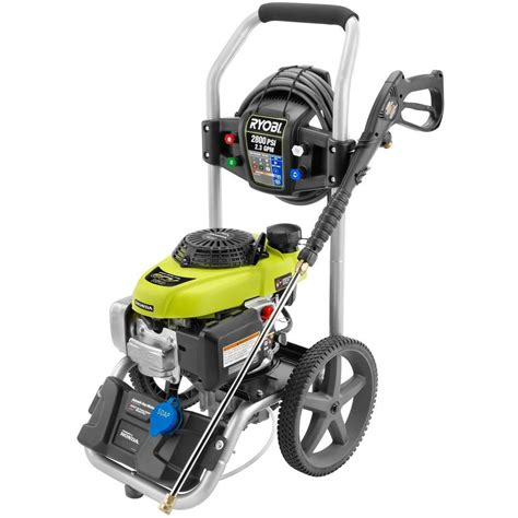 ryobi honda 2800 psi 2 3 gpm gas pressure washer with idle
