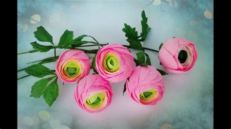 How To Make Paper Ranunculus - how to make ranunculus flower from crepe paper craft