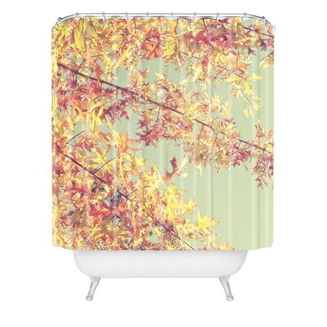 fall shower curtains shannon clark autumn shower curtain from deny designs