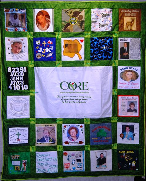 Quilt Org by Remembrance Quilt Center For Organ Recovery Education
