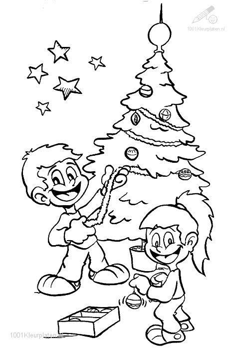 coloring page of a christmas tree with decorations coloringpage decorating the christmas tree