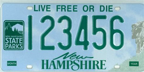 new hshire license plates of the states