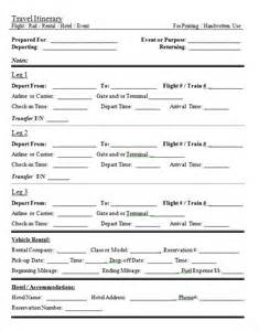 itinerary travel template sle daily itinerary 7 documents in pdf word excel