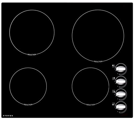 buy stoves seh600ir induction hob black free delivery currys