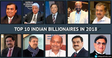 top 10 indian billionaires in 2018 richest indian list my india
