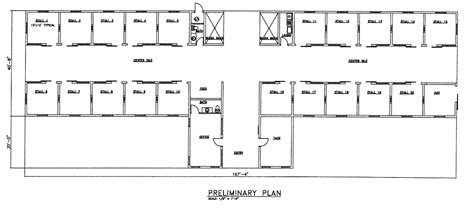 barn floor plan 20 stall horse barn center isle stables pinterest