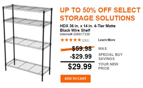 homedepot free shipping home depot 50 off home storage free shipping today