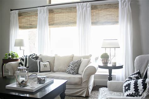 drapes over woven roman shades for the home pinterest bamboo roman shades crazy wonderful