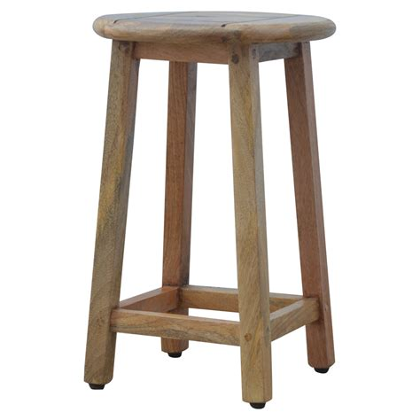 Breakfast Table With 2 Stools by Artisan Solid Wood Breakfast Table With 2 Stools Casamo